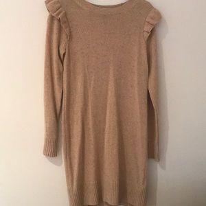 Club Monaco sweater dress ruffle Small